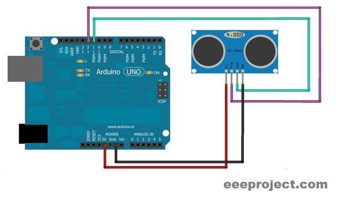 Distance measurement with ARDUINO and Ultrasonic sensor