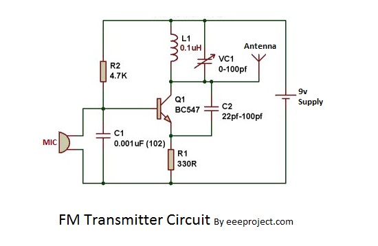 [DHAV_9290]  How to make FM transmitter circuit with 3 km Range | Wiring Diagram For Transmitter |  | eee projects