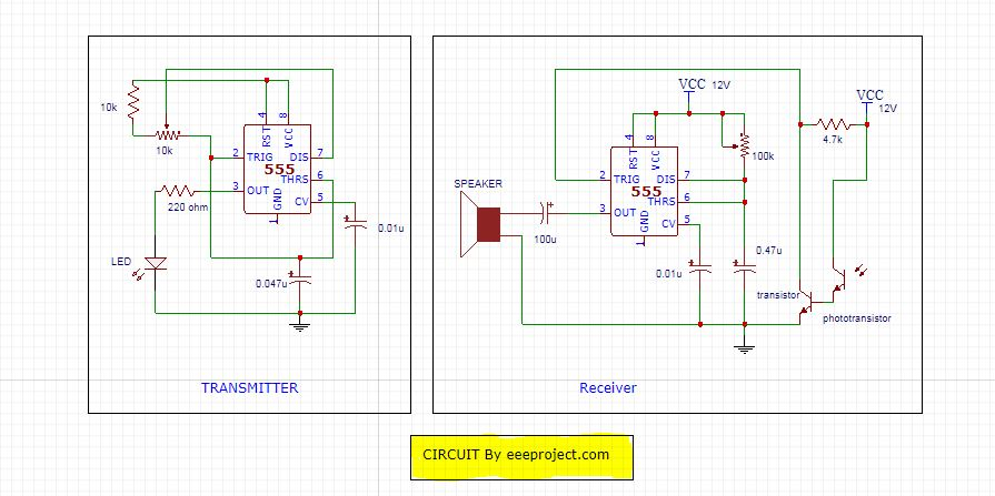Motion detector circuit Diagram