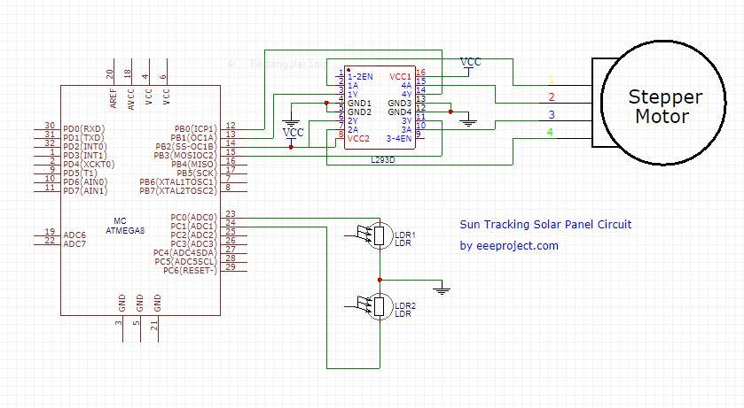 Sun Tracking Solar Panel Circuit
