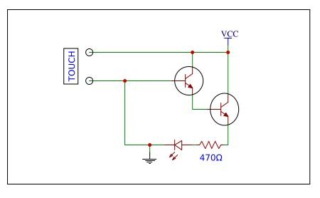 resistive touch sensor circuit